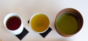 Degustation of 3 kinds of Japanese tea